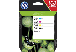 HP 364 Tintenpatrone Schwarz/Cyan/Magenta/Gelb (N9J73AE)