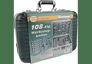 MANNESMANN 29089 Werkzeugkoffer 108-teilig Handwerkzeug, Grün/Schwarz