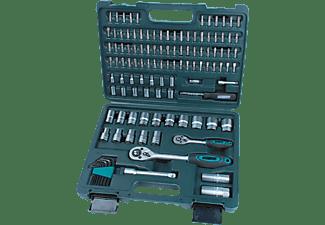 MANNESMANN 98415 Steckschlüsselsatz 115-teilig Handwerkzeug, Grün/Schwarz