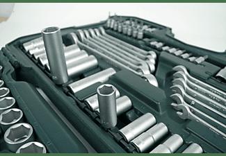 MANNESMANN 98430 Steckschlüsselsatz 215-teilig Handwerkzeug, Grün/Schwarz