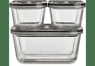 CASO 1177 VacuBoxx Eco-Set Vakuum-Frischebehälter  Transparent/Grau