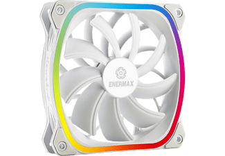 ENERMAX SquA RGB 120 mm ARGB Gehäuselüfter, Weiß
