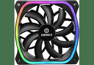 ENERMAX SquA RGB 120 mm ARGB 3er Pack Gehäuselüfter, Schwarz