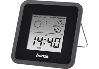 HAMA Hygrometer thermometer TH50 Zwart (186370)
