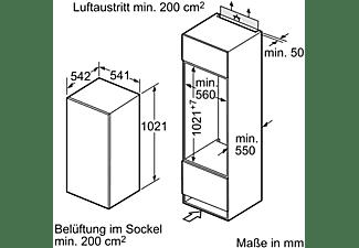 SIEMENS KI20LNFF1 iQ100 Kühlschrank (F, 1021 mm hoch, k.A.)