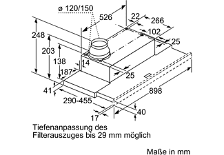 SIEMENS LI94LB530, Dunstabzugshaube (898 mm breit, 290 mm tief)