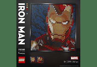 LEGO Marvel Studios Iron Man - Kunstbild 3-in-1-Wandkunst-Set, Mehrfarbig