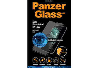 PANZERGLASS Black Case Friendly met Antiblauwlicht voor iPhone Xs Max/11 Pro Max