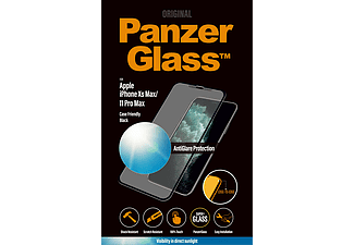 PANZERGLASS Black Case Friendly met Anti-Glare voor iPhone Xs Max/11 Pro Max