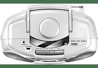 KARCHER RR 510N mit Kassettendeck Tragbares CD-Radio, Weiß