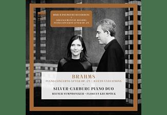 Silver-Garburg Piano Duo/Wiener Symphoniker - BRAHMS:CONCERTO FOR PIANO FOUR HANDS  - (CD)