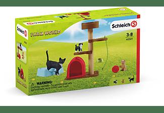 SCHLEICH Spielspaß für niedliche Katzen Spielfiguren Mehrfarbig