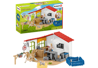 SCHLEICH Tierarzt-Praxis mit Haustieren Spielfiguren Mehrfarbig