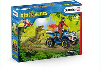 SCHLEICH Flucht auf Quad vor Velociraptor Spielfiguren Mehrfarbig