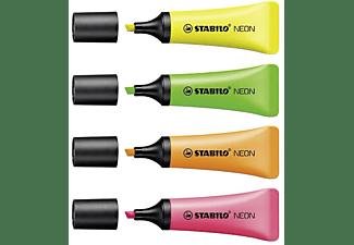 STABILO NEON - 4er Pack Textmarker, Mehrfarbig