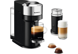 DELONGHI Nespresso Vertuo Next ENV120.CAE + Aeroccino3 Kapselmaschine Pure Chrome