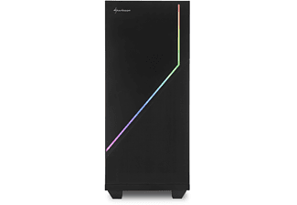 SHARKOON RGB Flow PC-Gehäuse, Schwarz