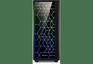 SHARKOON RGB LIT 100 PC-Gehäuse, Schwarz
