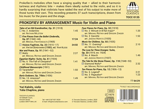 Kalnits,Yuri/Chaplina,Yulia - PROKOFIEV BY ARRANGEMENT  - (CD)