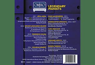 Anda/Kubelik/Gulda/Kempff/Lifschitz/+ - Legendary Pianists  - (CD)
