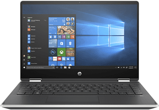 HP Pavilion x360 14-dh0324ng, Convertible mit 14 Zoll Display, Pentium® Silver Prozessor, 4 GB RAM, 256 GB SSD, Intel® UHD Grafik 605, Silber