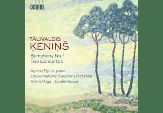 Latvian National SO, Eglina Agnese, Poga Andris - Symphony No. 1 And Two Concertos  - (CD)