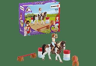 SCHLEICH HC Hannahs Western-Reitset Spielfigurenset, Mehrfarbig