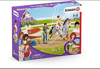 SCHLEICH HC Mias Voltigier-Reitset Spielfigurenset, Mehrfarbig