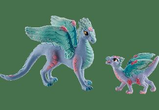 SCHLEICH Blütendrachenmama und Baby Spielfigurenset, Mehrfarbig