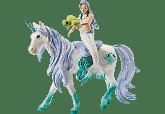 SCHLEICH Meerjungfrau auf Meereseinhorn Spielfigurenset, Mehrfarbig