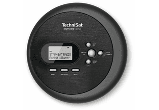TECHNISAT Tragbarer CD-Player DIGITRADIO CD 2GO mit DAB+ Radio, schwarz