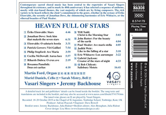 Ford,Martin/Vasari Singers/Backhouse,Jeremy - HEAVEN FULL OF STARS  - (CD)