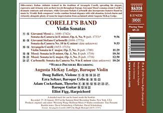 Lodge/Balliett/Cockerham/Figg - CORELLI'S BAND - VIOLIN SONATAS  - (CD)