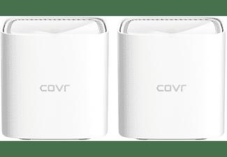 Amplificador Wi-Fi - D-Link COVR-1102, Wi-Fi mallado, Dos nodos, 300m2, Control parental, Smart Home, Blanco