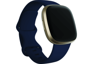 FITBIT Smartwatch Versa 3 Aluminum, Midnight/Soft Gold