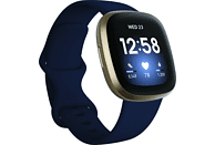 FITBIT Smartwatch Versa 3 Aluminum, Midnight/Soft Gold