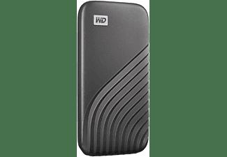 WD My Passport™ Festplatte, 500 GB SSD, 2,5 Zoll, extern, Grau
