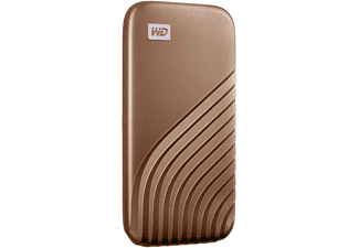 WD My Passport™ Festplatte, 1 TB SSD, 2,5 Zoll, extern, Gold