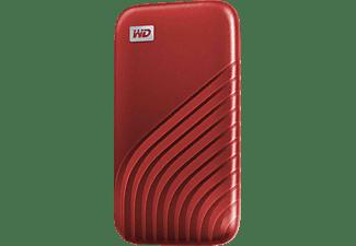 WD My Passport™ Festplatte, 1 TB SSD, 2,5 Zoll, extern, Rot