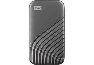 WD My Passport™ Festplatte, 1 TB SSD, 2,5 Zoll, extern, Grau