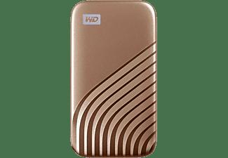 WD My Passport™ Festplatte, 500 GB SSD, 2,5 Zoll, extern, Gold