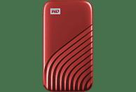 WD My Passport™, 2 TB SSD, 2,5 Zoll, extern, Rot