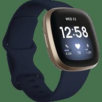 FITBIT Versa 3 Smartwatch Aluminium Silikon, S, L, Midnight/Soft Gold