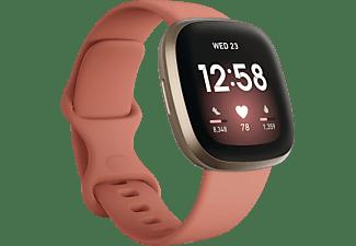 FITBIT Versa 3 Smartwatch Aluminium Silikon, S, L, Clay/Soft Gold