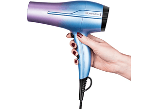 Secador - Remington, D5408, 2200 W, 3 Temperaturas, 2 Velocidades, Iónico, Aire Frío, Multicolor