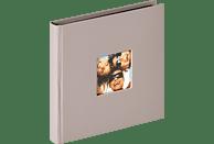 WALTHER Designalbum Fun Fotoalbum, 30 Seiten, Strukturpapier, Grau