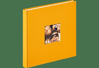 WALTHER Designalbum Fun Fotoalbum, 40 Seiten, Strukturpapier, Maisgelb