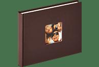 WALTHER Designalbum Fun Fotoalbum, 40 Seiten, Strukturpapier, Dunkelbraun