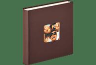 WALTHER Designalbum Fun Fotoalbum, 100 Seiten, Strukturpapier, Dunkelbraun