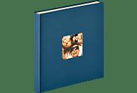 WALTHER Selbstklebealbum Fun Fotoalbum, 50 Seiten, Strukturpapier, Blau